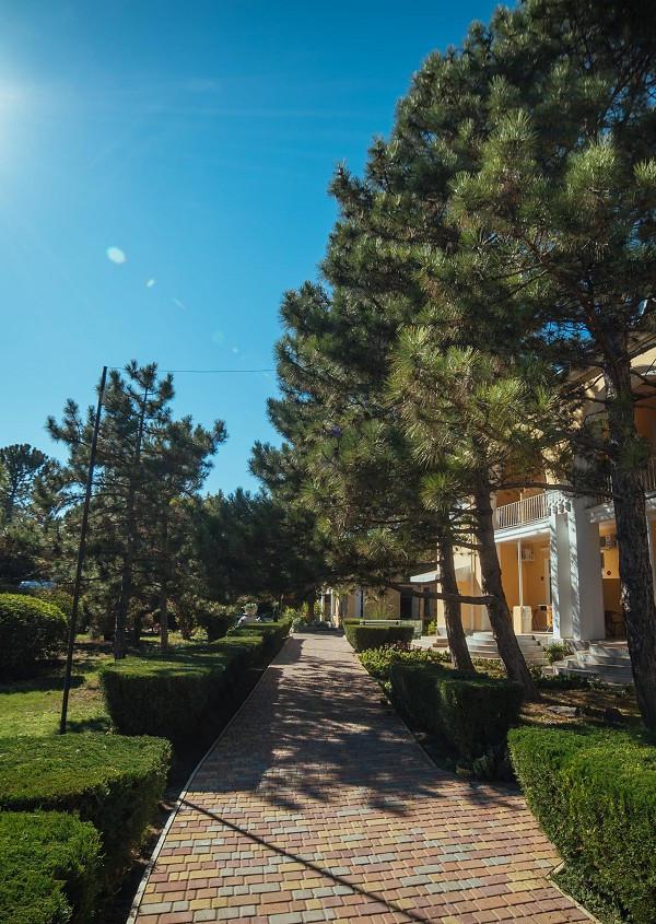 Территория парк-отеля Романова