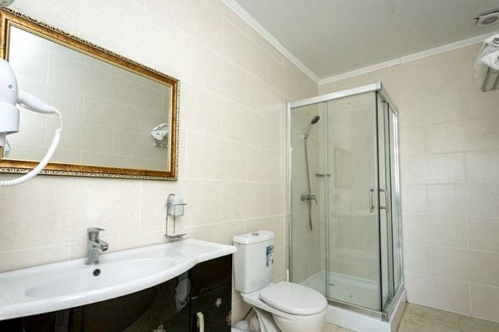 Туалетная комната номера Люкс отеля Россия в Алуште