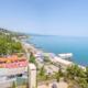 Вид на море с крыши отеля Россия в Алуште