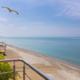 Вид на море с балкона гостиницы Руслан