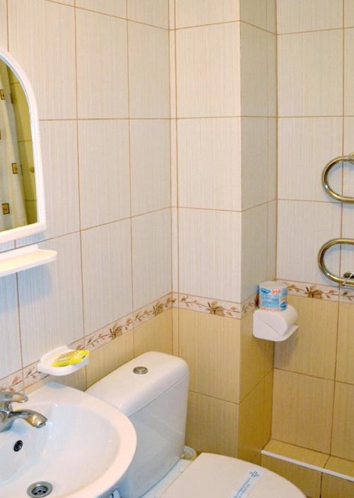 Туалетная комната в номере Комфорт санатория Сакрополь