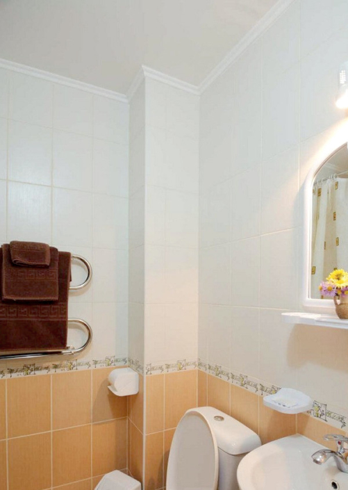 Туалетная комната в номере Престиж санатория Сакрополь