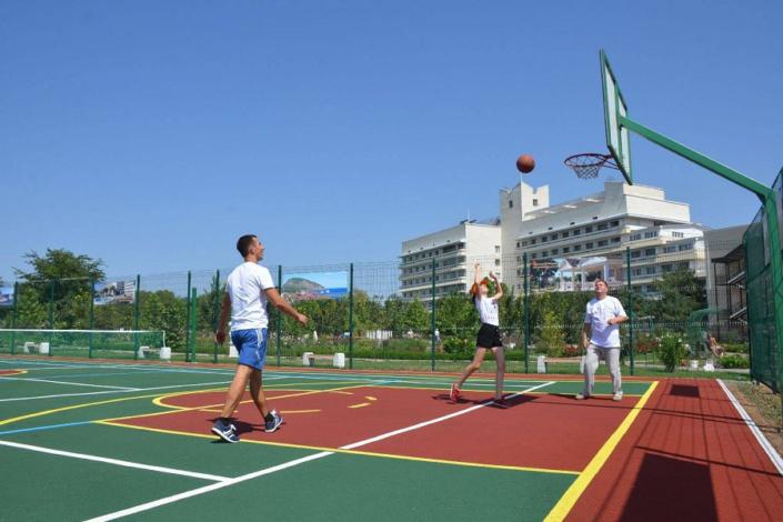 Спортивные площадки санатория Сакрополь