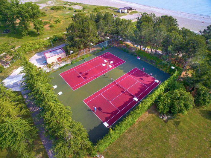 Теннисные корты пансионата Самшитовая роща, Пицунда, Абхазия