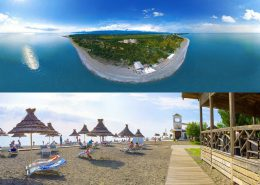 Пляж пансионата Самшитовая роща, Пицунда, Абхазия