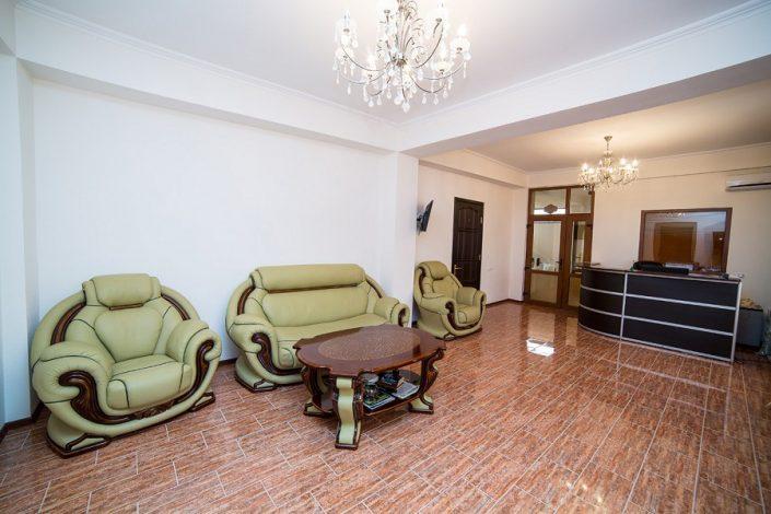 Холл отеля San-Siro, Гудаута, Абхазия