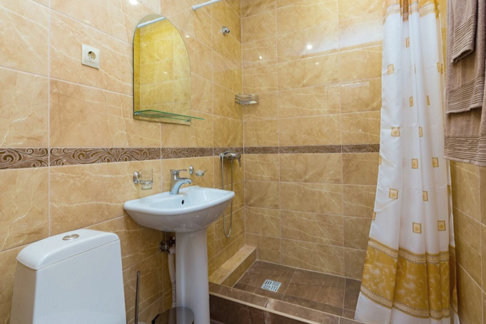 Туалетная комната Стандартного номера отеля Сария