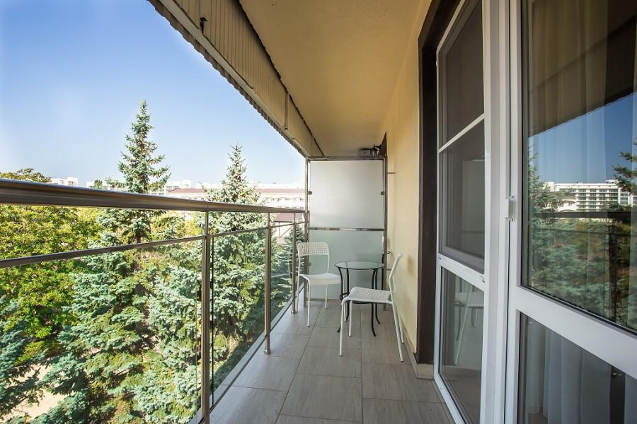 Балкон номера Стандарт отеля Славянка
