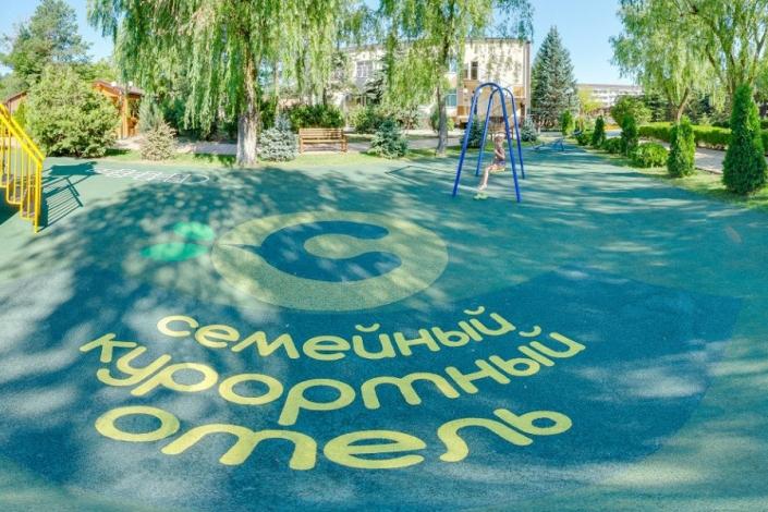 Детская площадка отеля Славянка