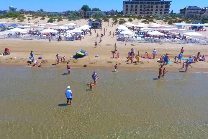 Пляж отеля Славянка