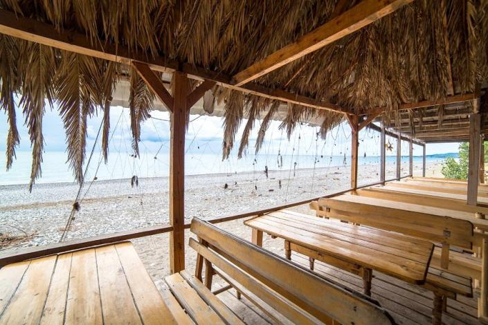 Кафе на пляже пансионата Солнечный