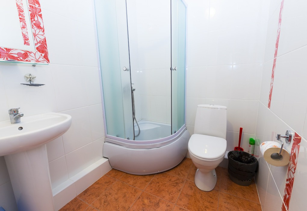 Туалетная комната Стандартного номера пансионата Солнышко Адлер, Сочи