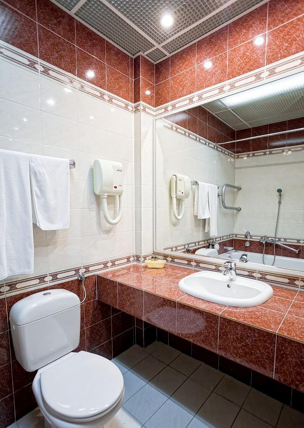 Туалетная комната номера Делюкс в Корпусе № 1 санатория Сосновая роща
