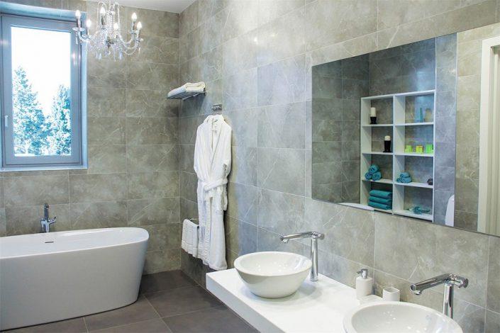 Ванная комната в вилле отеля Спорт Инн