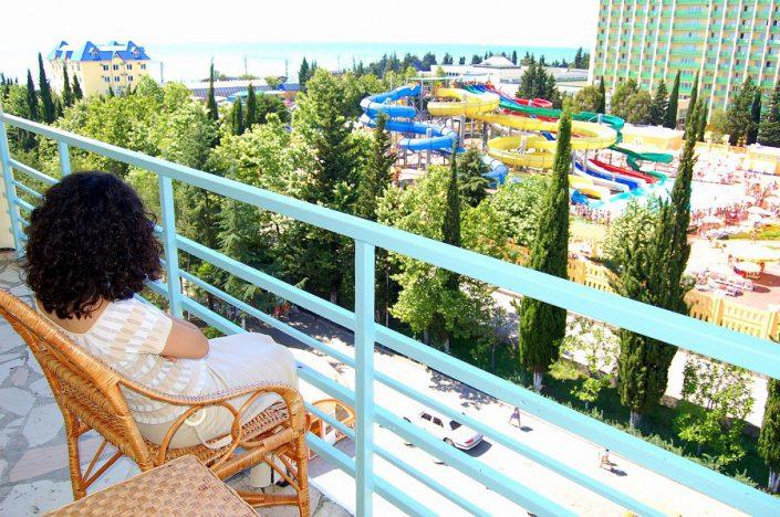 Вид с балкона номера санатория СССР
