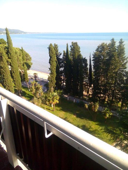 Вид с балкона номера санатория Страна души, Сухум, Абхазия