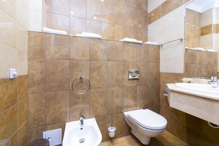 Туалетная комната Стандартного номера отеля Sun Palace Gagra