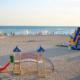 Детский городок и аттакционы на пляже пансионата Танжер