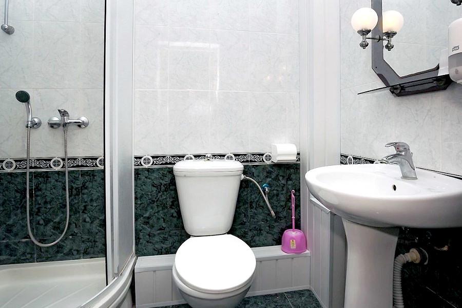 Туалетная комната номера Стандарт одноместный в пансионате Трехгорка