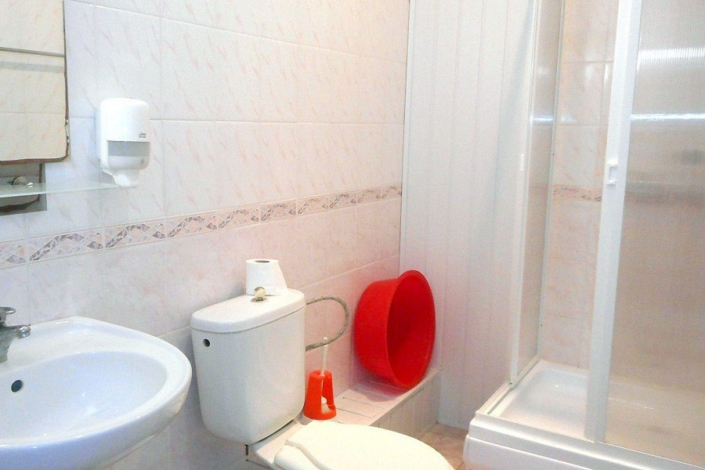 Туалетная комната номера Стандарт трехместный в пансионате Трехгорка