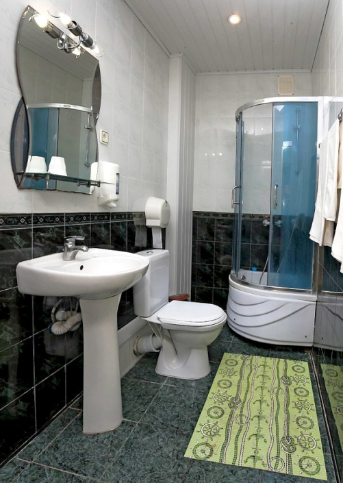 Туалетная комната номера Люкс двухместный в пансионате Трехгорка