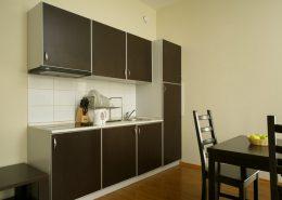 Кухня однокомнатных апартаментов с кухней-гостиной Valset Apartments by Azimut