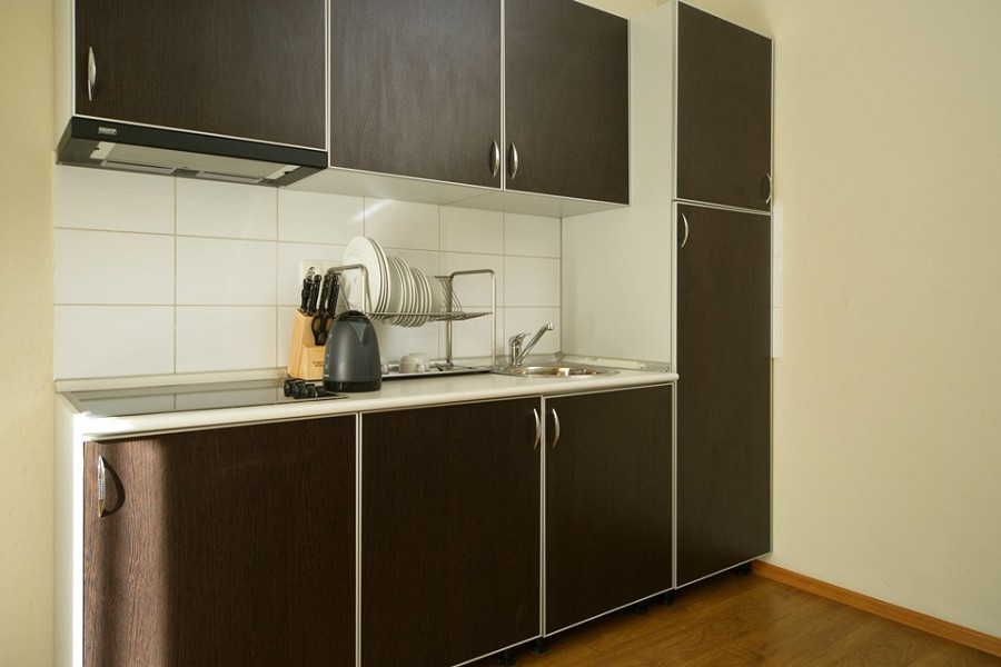 Кухня номера Апартаменты-Студия Valset Apartments by Azimut