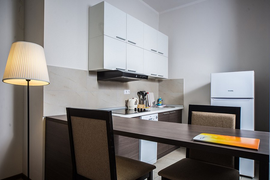 Кухня в номере Апартаменты-Студия Valset Apartments by Azimut