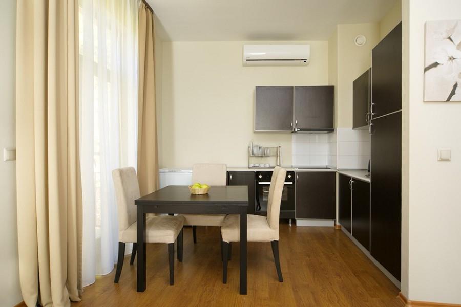 Кухня в номере Президентские Апартаменты-Студия Valset Apartments by Azimut