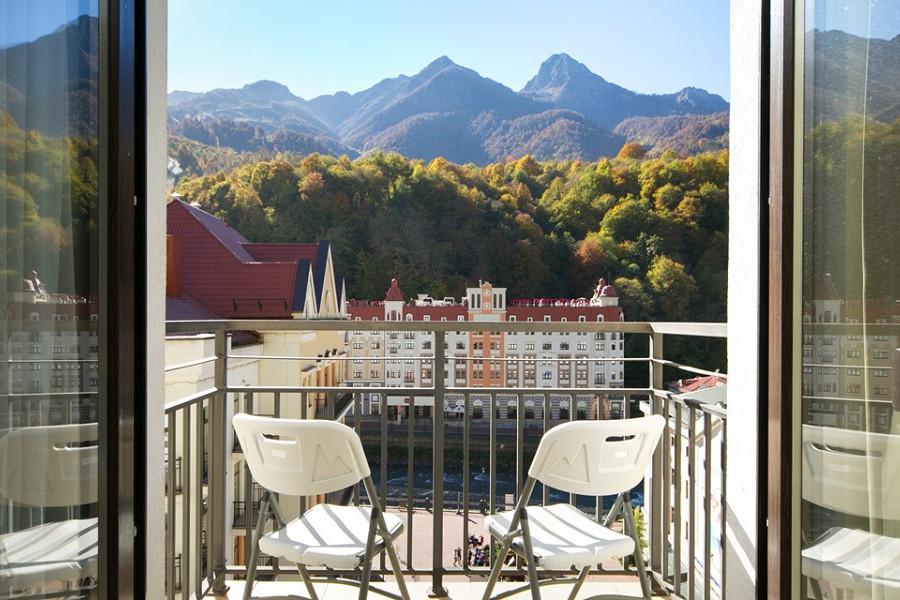 Балкон номера Президентские Апартаменты-Студия Valset Apartments by Azimut