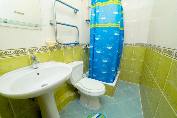 Туалетная комната Стандартного номера в отеле Вариант