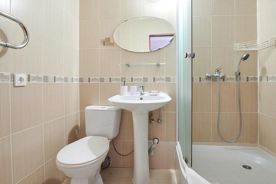 Туалетная комната Стандартного номера гостиницы ВатерЛоо