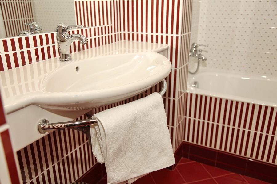 Туалетная комната номера Полулюкс отеля Вилла Аквавизи