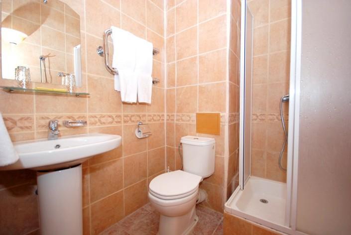 Туалетная комната в Стандартном номере отеля Вилла Анна