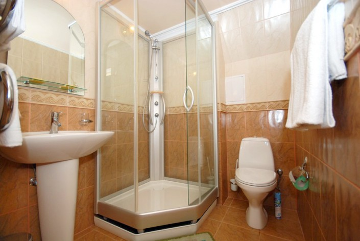 Туалетная комната в Царском домике отеля Вилла Анна