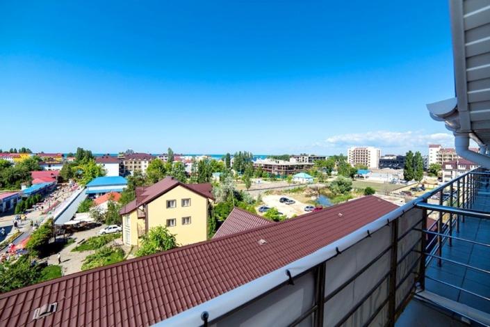 Вид с балкона одного из Стандартных номеров пансионата Vityazevo Family