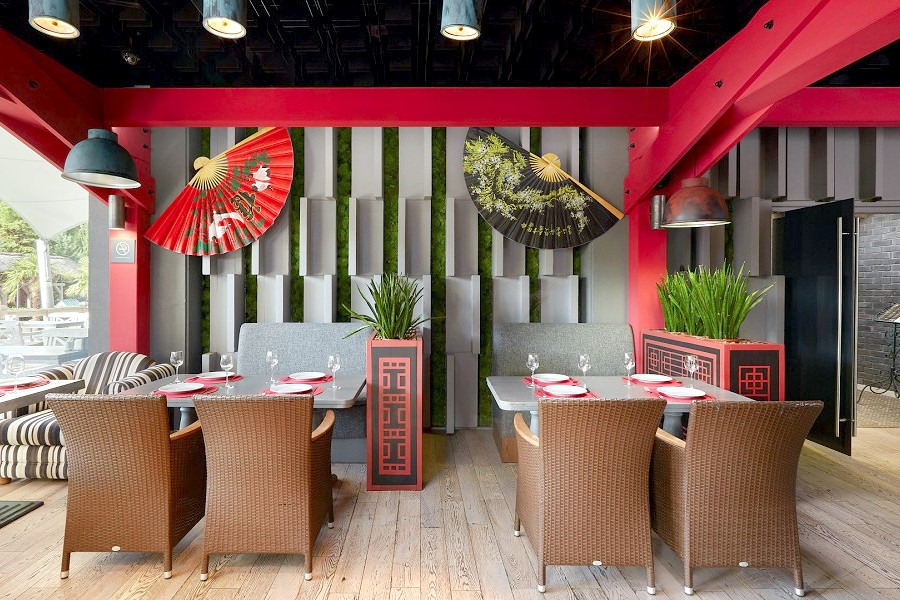Ресторан Самурай на территории отеля Ялта-Интурист