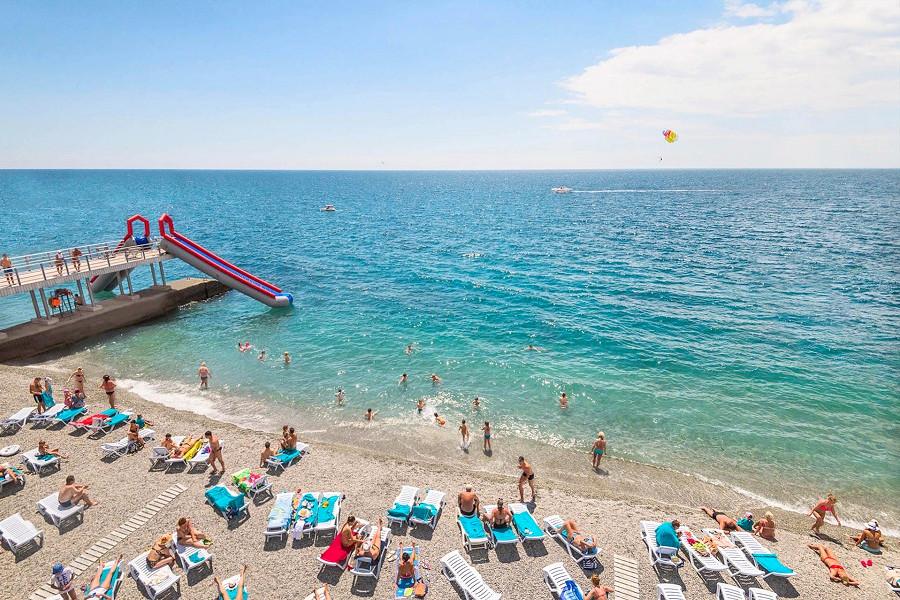 Пляж отеля Ялта-Интурист отеля Ялта-Интурист
