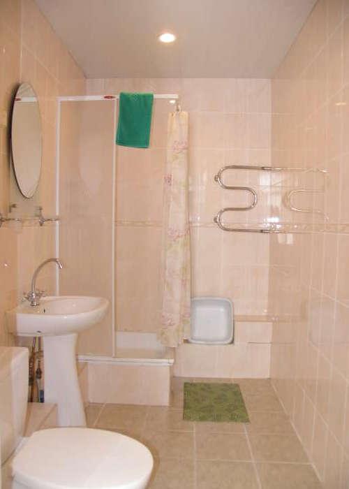 Туалетная комната номера Стандарт в Корпусе 2 ГК Юстас-Крым