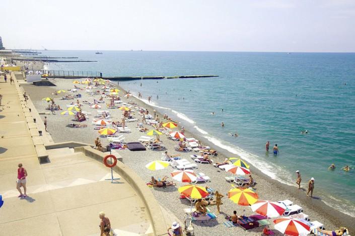Пляж санатория Заполярье