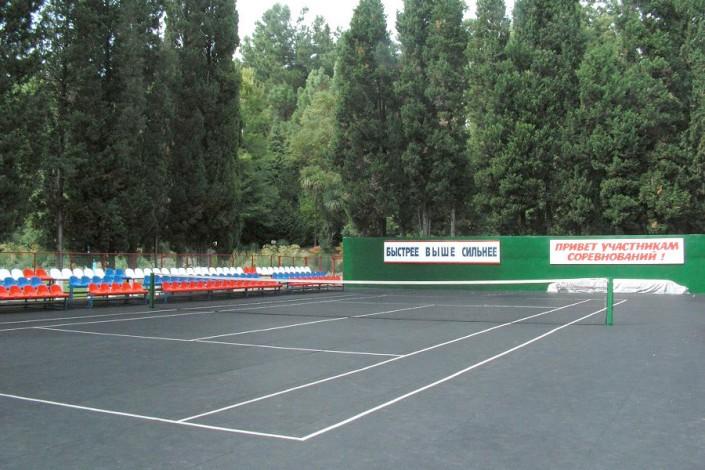 Теннисный корт санатория Заполярье