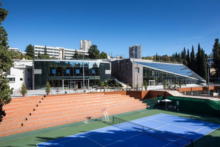 Теннисный корт санатория Заполярье, Сочи