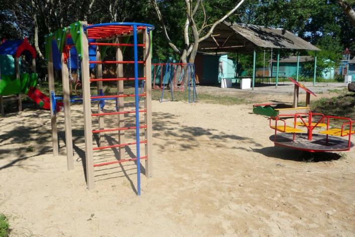 Детская игровая площадка курортного комплекса Заря Анапы