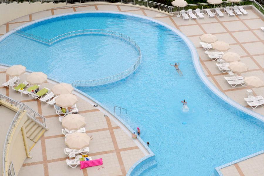 Открытый бассейн санатория Зеленая роща, Сочи