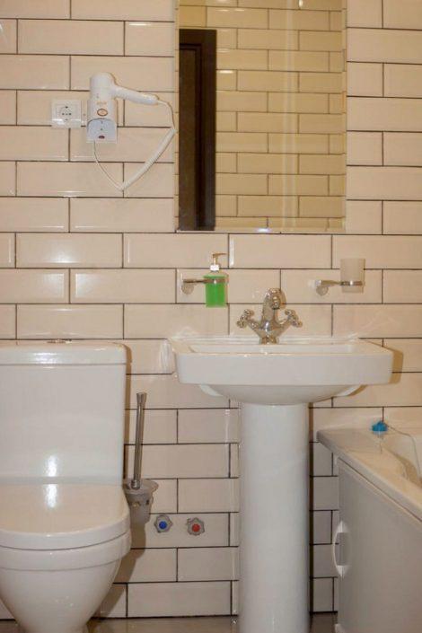 Туалетная комната в номере отеля Жоэквара