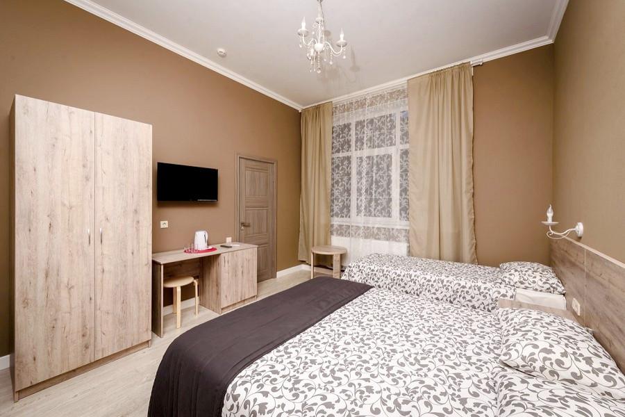 Стандартный трехместный номер, корпус Вилла отеля Журавли