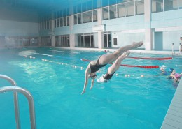 Крытый бассейн санатория Знание