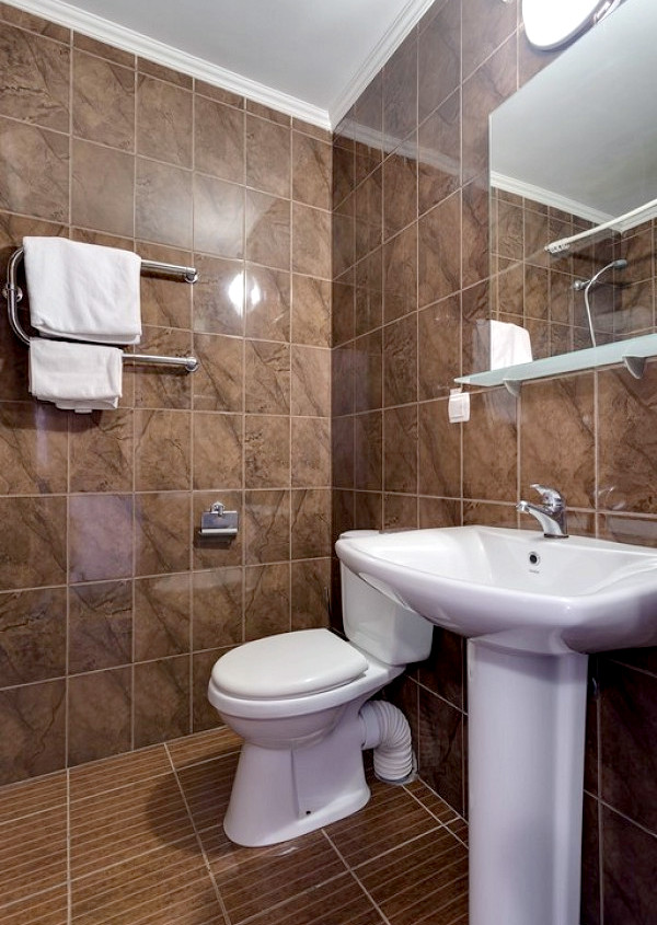 Туалетная комната Стандартного номера, Корпус № 3, блок 1, 2, 3 санатория Золотой берег