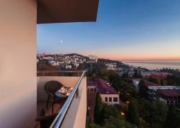 Вид с балкона номера санатория Золотой колос