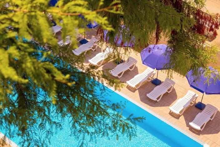 Вид с балкона номера Делюкс отеля Золотой якорь